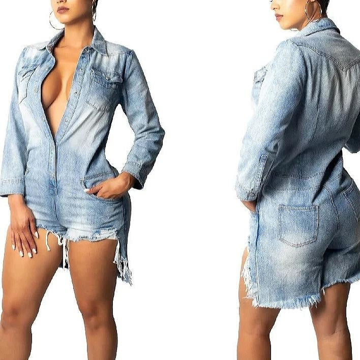 TALIA DENIM ROMPER
