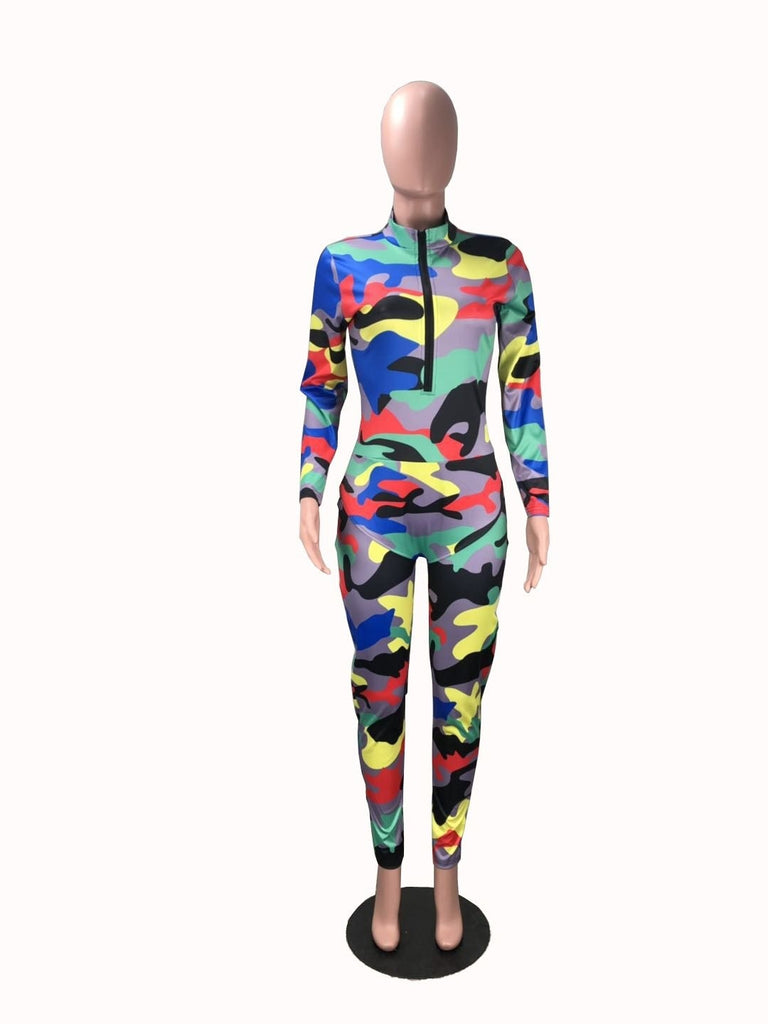 THE COLORFUL CAMOUFLAGE JUMPSUIT