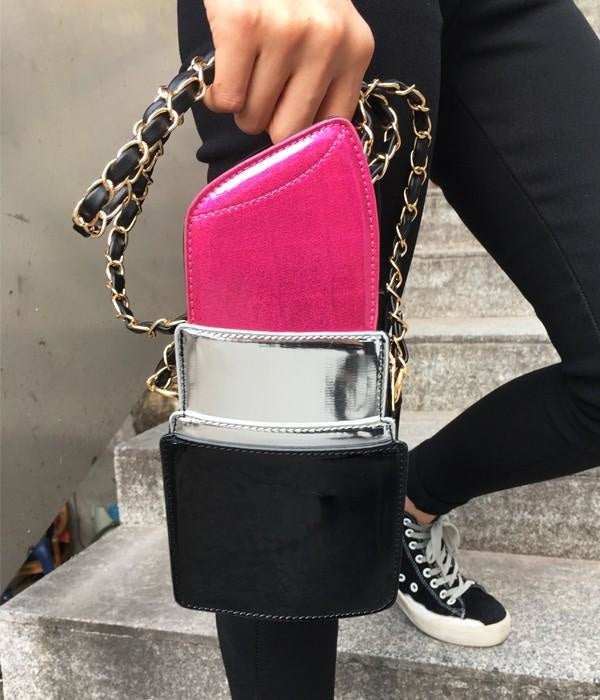 THE LIPSTICK BAG - HOT PINK