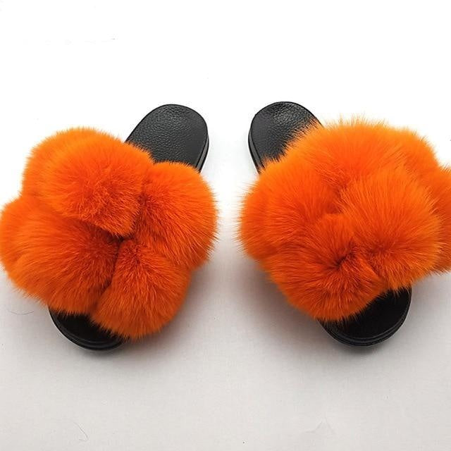 THE POM POM SLIDES - ORANGE
