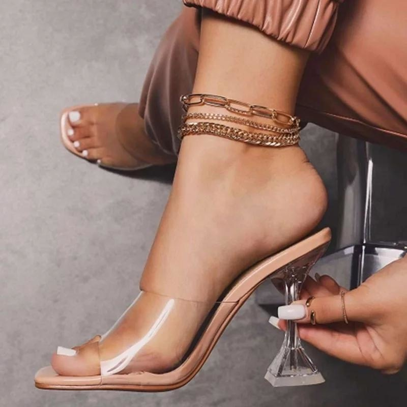 THE TRENDY GIRL CLEAR SANDALS