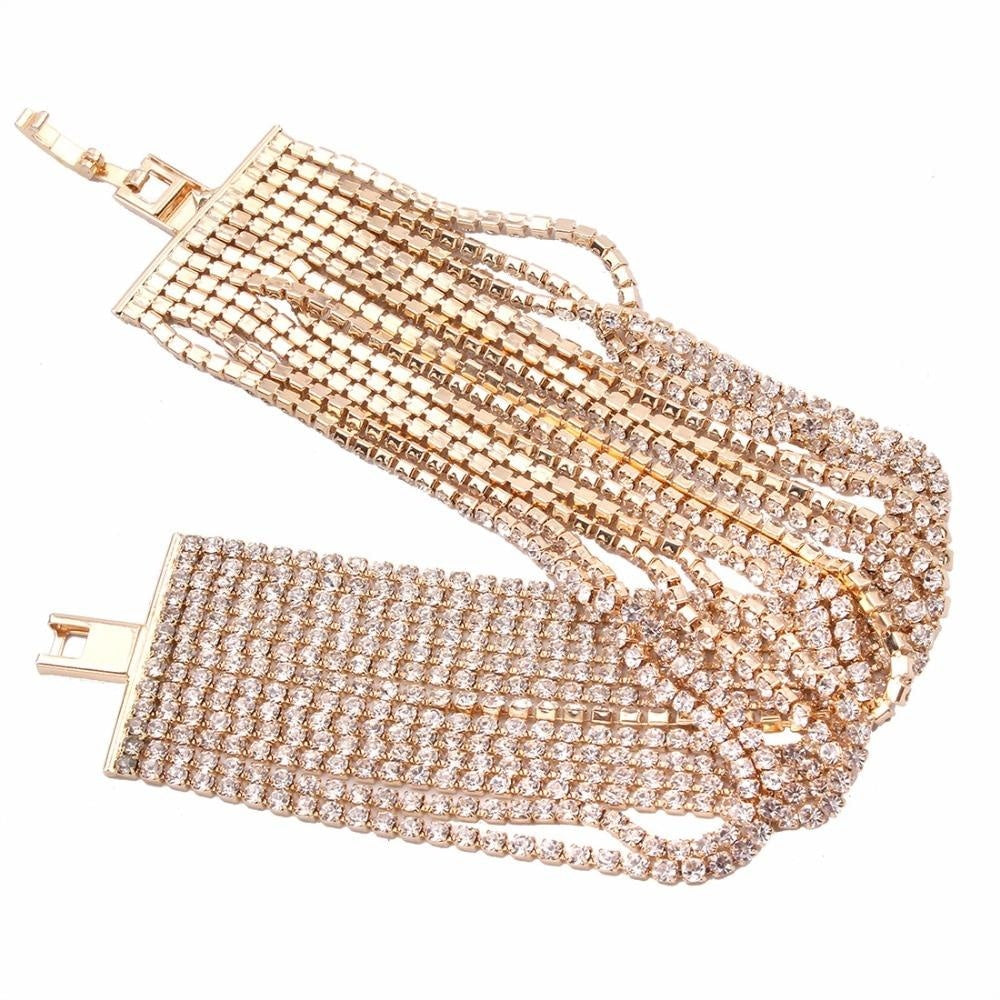 TOO FANCY LAYERED RHINESTONE BRACELET