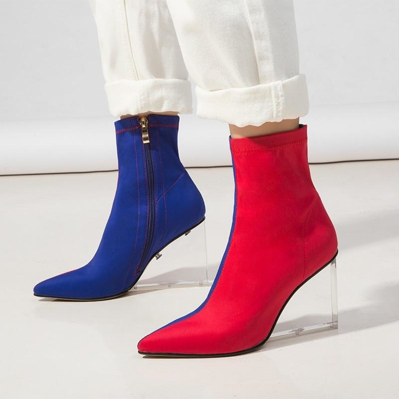 TWO FACED ANKLE BOOTS - BLUE
