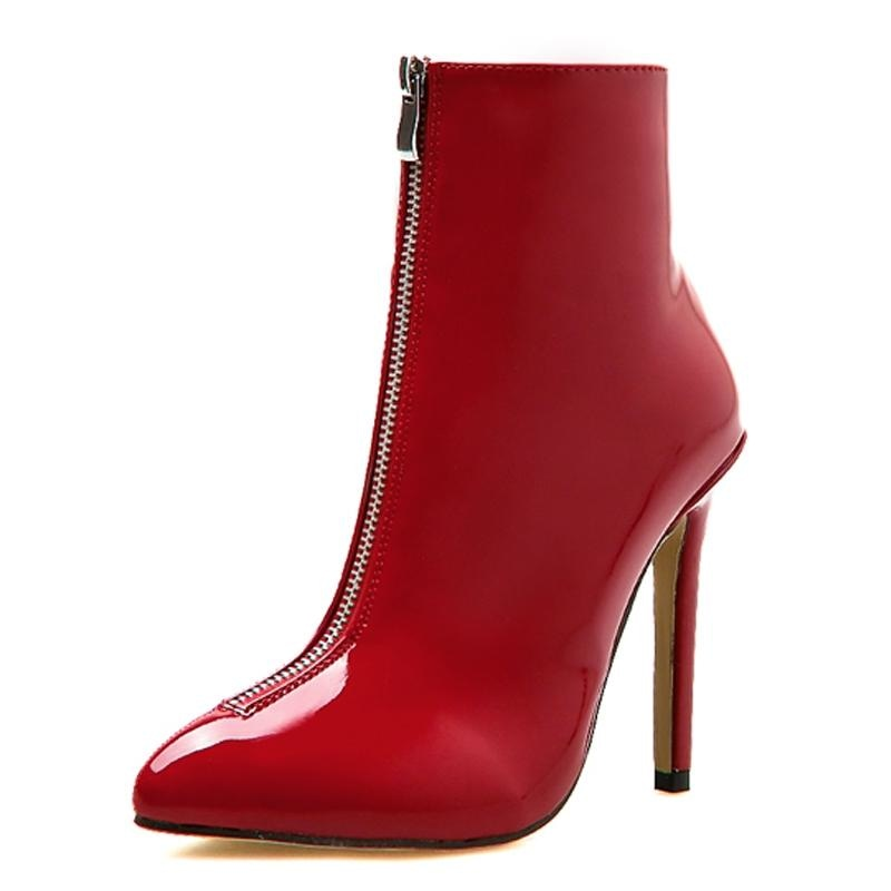 WAIT FOR ME ANKLE BOOTS - RED