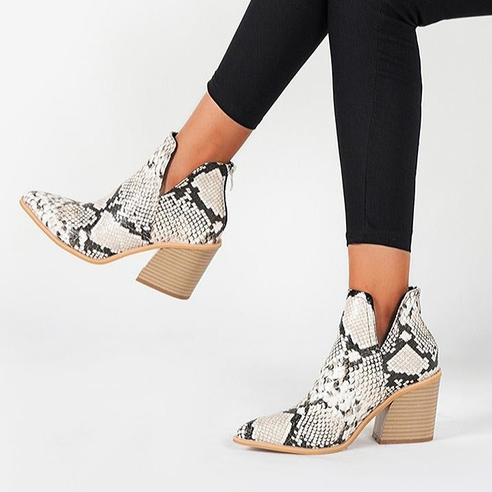 WHEN THE SUN COME UP BOOTIES - SNAKE PRINT