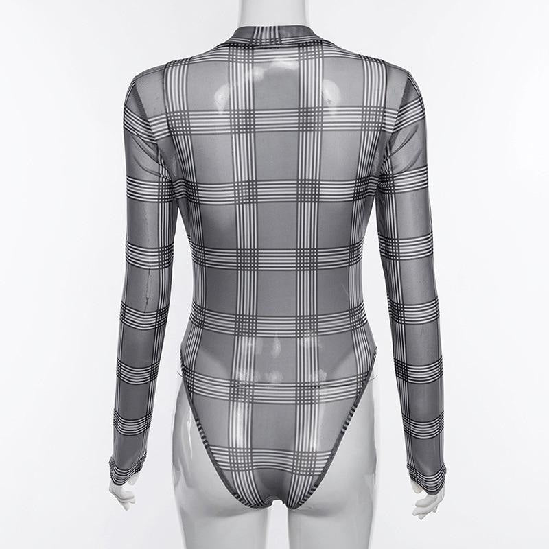 WOMENS PLAID BODYSUIT