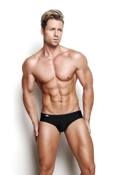 XPLCIT Assistance, Marco Marco Swim Brief - Black, Apparel, Marco Marco,