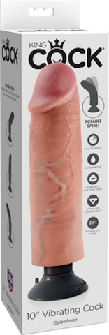 "Claredale Sex Toys 10"" Vibrating Cock"