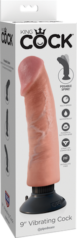 "Claredale Sex Toys 9"" Vibrating Cock"