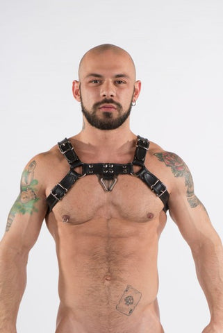 XPLCIT Assistance, Black Leather Bulldog Harness - Sparta's Harness, Harnesses, Sparta's Harness,