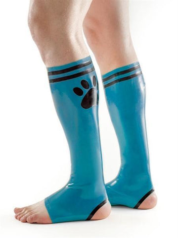 XPLCIT Assistance, FETCH Rubber Puppy Football Socks - Blue & Black, Apparel, Mister B,