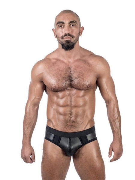 Mister B Apparel Neoprene Jock Brief Black