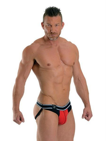 Mister B Apparel URBAN Manhattan Jockstrap - Red & Black