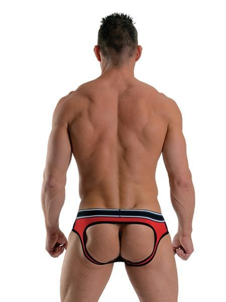 Mister B Apparel URBAN Soho Jock Brief - Black & Red