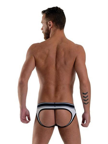 Mister B Apparel URBAN Soho Jock Brief - White & Black