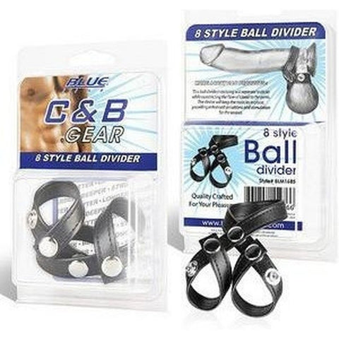 Mister B Cock & Ball Blue Line Men 8-Style Ball Divider