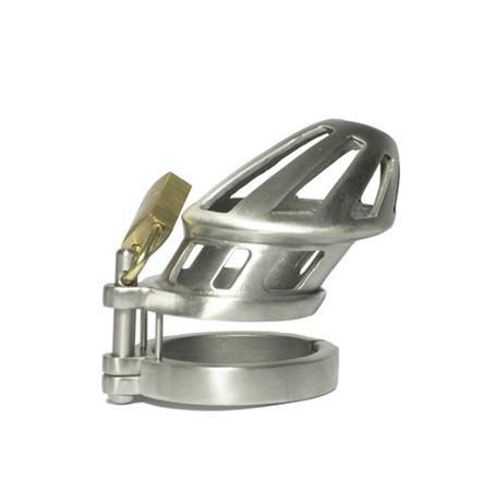 Mister B Cock & Ball BON4 M Stainless Steel Chastity Cage Small