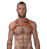 Mister B Harnesses Premium X-Back Harness - Neon Orange