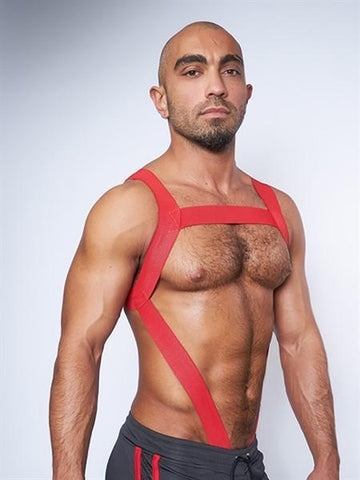 Mister B Harnesses URBAN Cock Strap Club Harness - Red