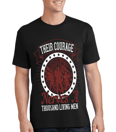 """THE COURAGE NERVES A THOUSAND LIVING MAN"" MILITARY Men's"