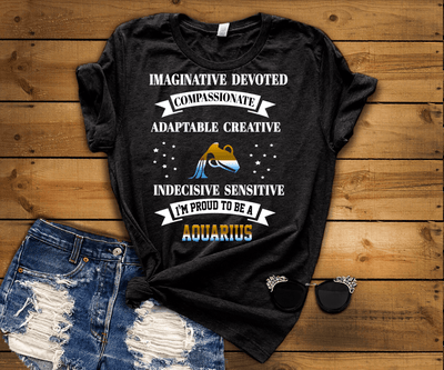 """AQUARIUS Imaginative Devoted Compassionate Adaptable Creative"""