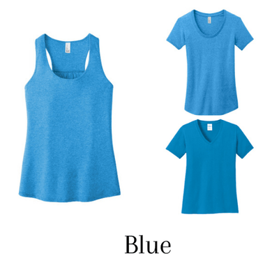 """Scoop neck+Vneck+Tank Top - Form-fitting & 100% ring spun cotton"" Pack of 3."