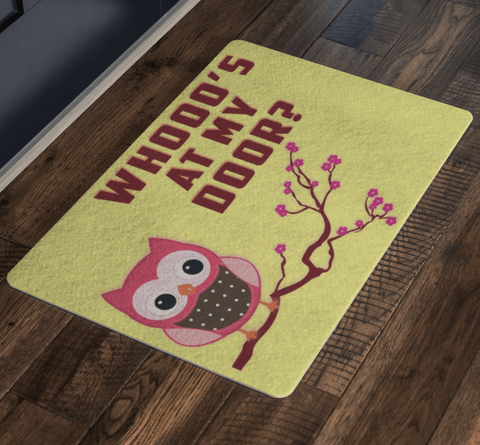 """Whooo's At My Door? "" Special Doormats Exclusive ( Best price Deal)"