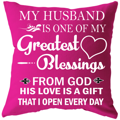 """Greatest Blessing Cushion"" -Pink"