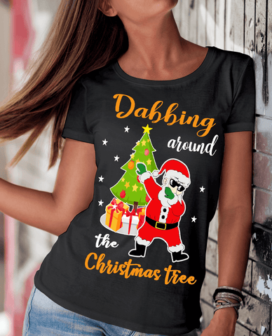 """DABBING AROUND THE CHRISTMAS TREE"" -BLACK"