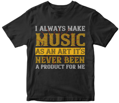"""I always make music as an art  it's never been a product for me"" Music"