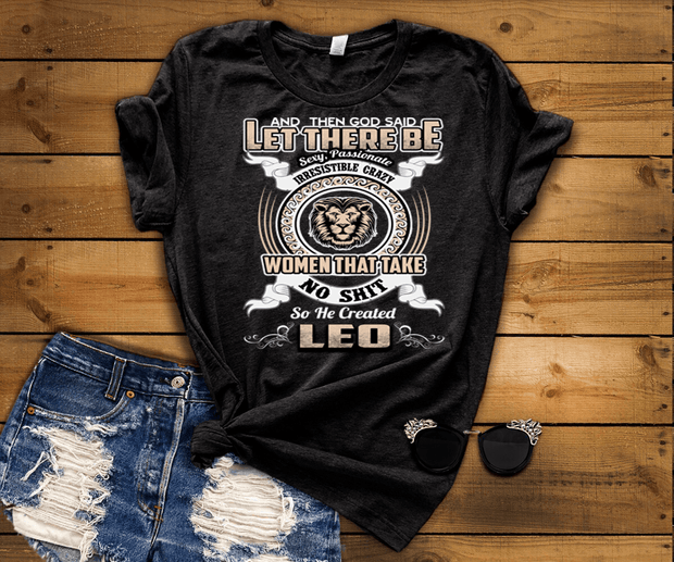"""Specially Crafted For Leo Wear On Your Zodiac Sign Personalized Shirt For Women"""