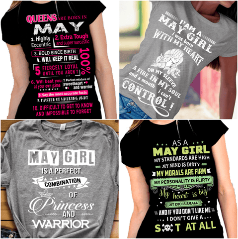 """Get Exclusive Discount On May Combo Pack Of 4 Shirts(Flat Shipping) For B'day Girls."
