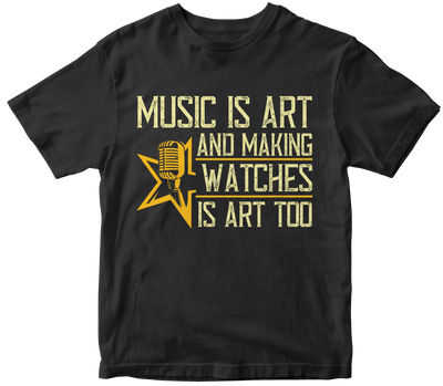 """Music is art, and making watches is art, too"" Music"