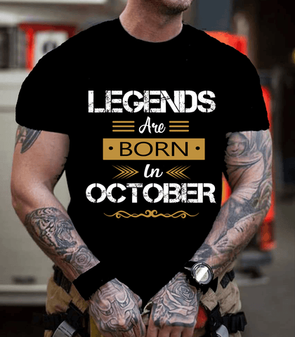"""Legends Are Born In October""- New Design."