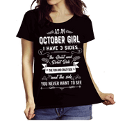 """As an October Girl I have 3 Sides"""