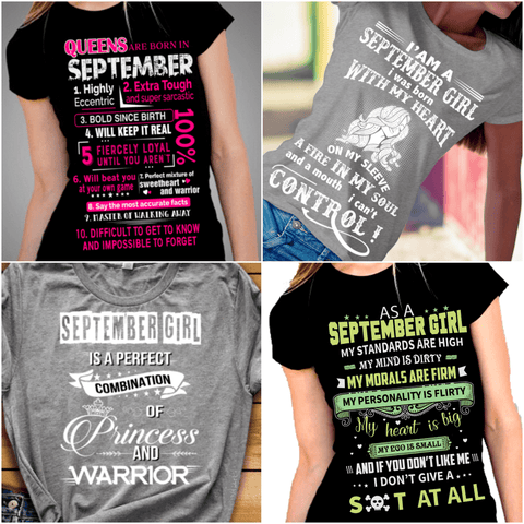 """Get Exclusive Discount On September Combo Pack Of 4 Shirts(Flat Shipping) For B'day Girls."
