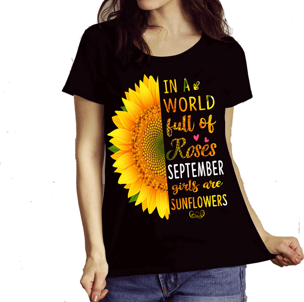 """September Combo (Sunflower And 3 Sides)"" Pack of 2 Shirts"