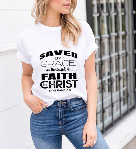 """SAVED BY GRACE THROUGH FAITH IN CHRIST""."