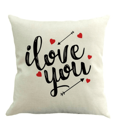 """Happy Valentine Day Cushion Cover I LOVE YOU"""