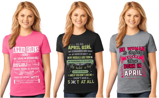 """April Pack Of 3 Shirts Combo -2"""
