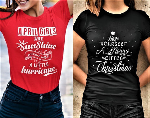 """2 Awesome Designs Combo- April Sunshine + Merry Little Christmas""."