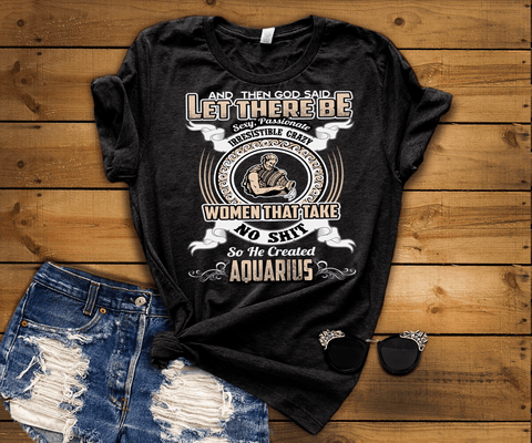 """Specially Crafted For  Aquarius Wear On Your Zodiac Sign Personalized Shirt For Women"""