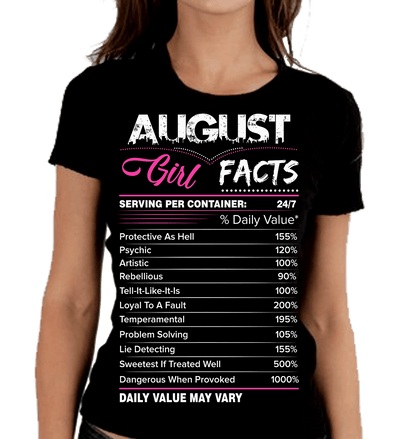 """August Girl Facts"""