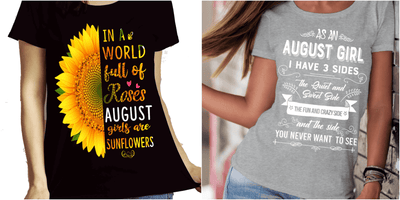 """August Combo (Sunflower And 3 Sides)"" Pack of 2 Shirts"