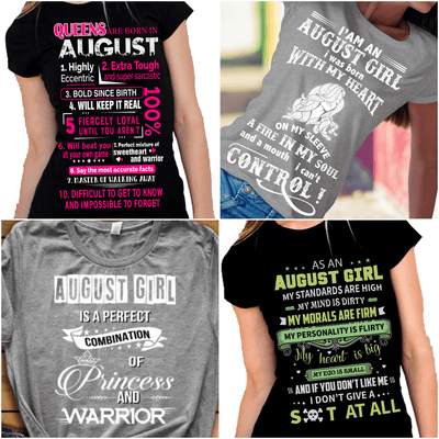 """August Pack Of 4 Shirts"""