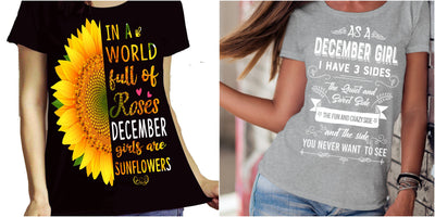 """December Combo (Sunflower And 3 Sides)"" Pack of 2 Shirts"
