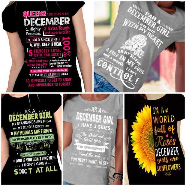 """December Pack Of 5 Shirts"""