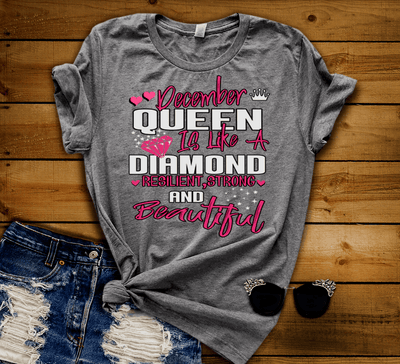 """DECEMBER QUEEN IS LIKE A DIAMOND RESILIENT,STRONG AND BEAUTIFUL"" -Grey."