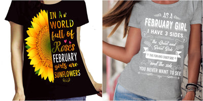 """February Combo (Sunflower And 3 Sides)"" Pack of 2 Shirts"