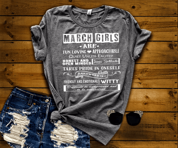 """MARCH GIRLS ARE FUN LOVING"""